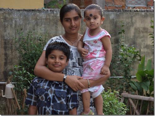 my daughter asmita,son manas and niece mamu